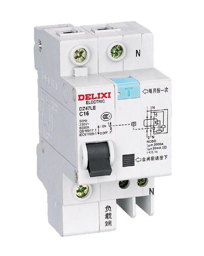 DZ47LE 标准漏电保护断